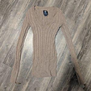 American Eagle Tan V-neck Sweater XS